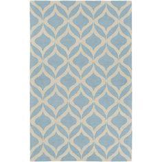 Impression AWIP-2195 Light Blue/Ivory Contemporary Premium Wool Rug