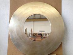 ESPEJO REDONDO EN PAN DE PLATA http://www.kinomarcosmolduras.com/producto/28/espejos-modernos