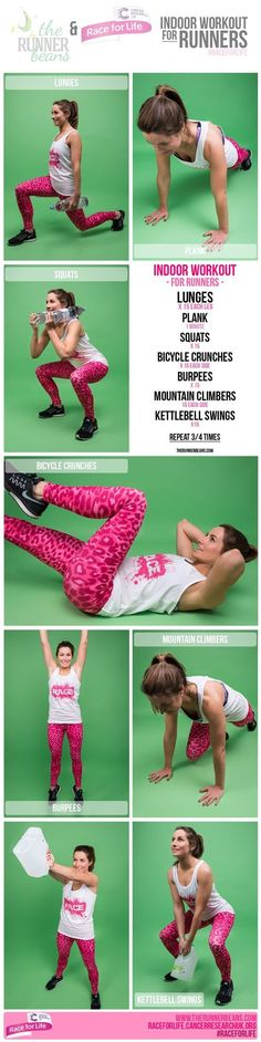 Indoor No Equipment workout for Runners - strength training workout for runners http://www.therunnerbeans.com/2016/04/indoor-exercises-runners.html?utm_campaign=coscheduleandutm_source=pinterestandutm_medium=The%20Runner%20Beansandutm_content=Indoor%20Exercises%20for%20Runners
