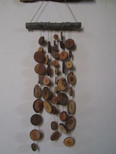 Rustic Wooden Button Wind Chimes by PymatuningCrafts on Etsy, $30.00