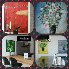 Malerier i køkken Paintings in kitchen
