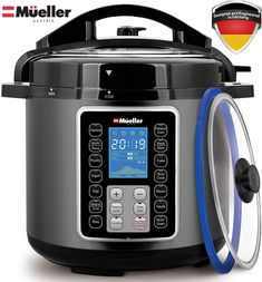 Mueller UltraPot Pressure Cooker Instant Crock 10 in 1 Hot Pot with German for sale online Instant Pressure Cooker, Best Pressure Cooker, Pressure Pot, Electric Pressure Cooker, Rice Cooker, Slow Cooker, Specialty Appliances, Kitchen Appliances, Smart Program
