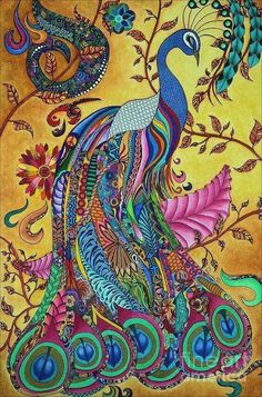 ☮ American Hippie Art ☮  peacock