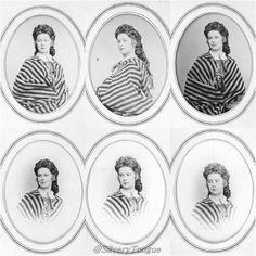 "Photo session by unknown photographer of Austrian Empress Elisabeth ""Sissi"" (Elisabeth Amalie Eugenie) (24 Dec 1837-10 Sep 1898) Bavaria. Sissi was the wife of Emperor Franz Joseph I (18 Aug 1830-21 Nov 1916) Austria."