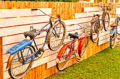 Bikes on a Fence!