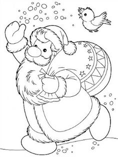 Santa Claus Kids Coloring Pages and Free Colouring Pictures to