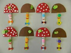 The mushroom picking started in Fun Crafts For Kids, Diy Arts And Crafts, Preschool Crafts, Diy For Kids, Diy Crafts, Diy Paper, Paper Crafts, Diy Notebook, Projects To Try