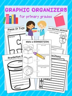 24 Reading Graphic Organizers for Primary Grades!