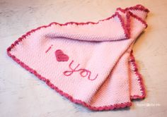"""Repeat Crafter Me: Crochet """"I Love You"""" Blanket"""