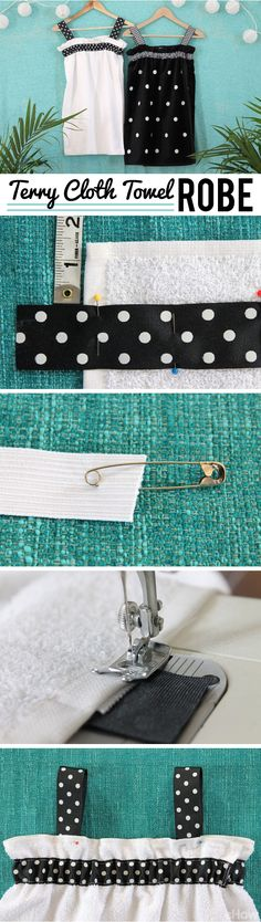 How to Make a Terry Cloth Towel Robe