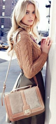 Great camel cable sweater