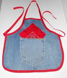 Check out this item in my Etsy shop  #recycled #blue #jeans  #toddler #apron  with #bandana https://www.etsy.com/listing/233173488/toddler-apron-recycled-toddler-apron