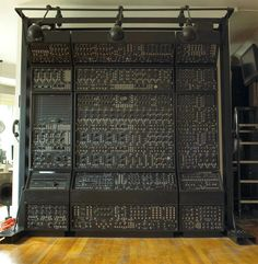 Awesome!! Wall of #Synth
