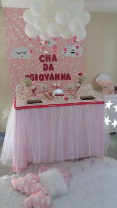Baby Tea, Baby Shawer, Birthday Party Decorations, Party Themes, Birthday Parties, Bar Set Up, Ideas Para Fiestas, Baby Prints, Baby Decor
