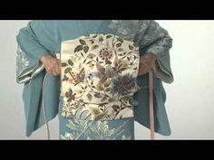 美装流前結び「二重太鼓帯結び編」 - YouTube- Japanese Obi