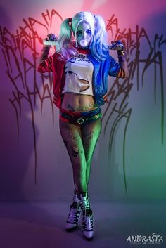 Character: Harley Quinn (Dr. Harleen Quinzel) / From: DC Comics & Warner Bros. Pictures 'Suicide Squad' / Cosplayer: Andrasta / Photo: Majk's Exposure Lab (2016) - COSPLAY IS BAEEE!!! Tap the pin now to grab yourself some BAE Cosplay leggings and shirts! From super hero fitness leggings, super hero fitness shirts, and so much more that wil make you say YASSS!!!