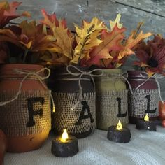 Fall Mason Jars at Country Clutter!!