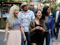 'The X Factor' finalists head to Celebrity HotSpot @The Grove in Los Angeles for an interview with Mario Lopez on November 26, 2012.  http://celebhotspots.com/hotspot/?hotspotid=6429&next=1