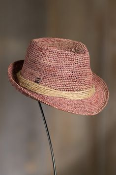 Kingwood Crocheted Raffia Fedora Hat | Overland Sheepskin