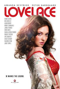 New Poster of Amanda Seyfried in Porn Star Biopic 'LOVELACE'!    Take a look at the brand new poster for the upcoming porn star biopic, 'Lovelace'. The film will star Amanda Seyfried as Linda Lovelace (Linda Susan Boreman), the American pornographic actress who became forever famous for her performance in the hardcore porn film 'Deep Throat' (1972).