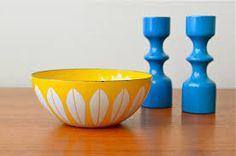 favorite enamel bowl with leaf motif