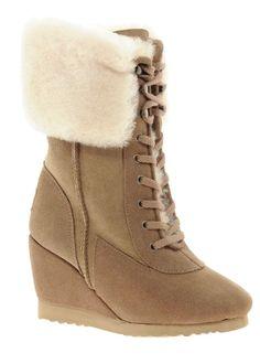 775de9f0bc 10 elegantes botas de cuña con cordones para el invierno y la primavera