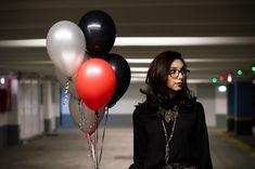 Balões, Balões De Hélio, Balão Vermelho, Estacionamento