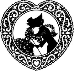 This is a lovely Vintage Doily Valentine Image! The Valentine shows a cute young couple sneaking a little Kiss, with her Bonnet used to hide it! Graphics Fairy, Free Graphics, Little Valentine, Valentine Heart, Valentine Crafts, Valentine Ideas, Victorian Valentines, Vintage Valentines, Cute Young Couples
