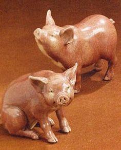 Porcelain Crackle Pigs