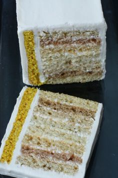 Curry Cake = Spice Cake with 9 individually flavored layers and a coconut cream frosting. Now I'm wondering how other spice mixes, like Garam Masala, would do making appearances in a similarily deconstructed spice cake.