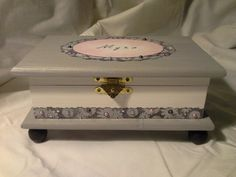 Wood crafts- beautiful box with pearl accents.  Enchanted Giftss  on Etsy- sold.
