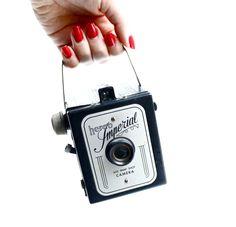 Vintage Herco Imperial Camera - 620 Snap Shot Black Box Camera /  1940s Photography. $36.00, via Etsy.