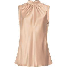 Sachin & Babi Rani Sleeveless Top (€370) ❤ liked on Polyvore featuring tops, pink, sleeveless tank tops, ruched tank top, shirred top, sleeveless tank and ruched sleeveless top