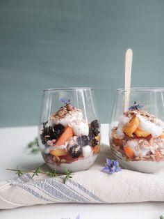 blackberry peach parfaits