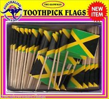 Jamaica flag Jamaican flag toothpicks for cooking cupcakes cocktails & party.