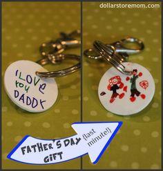 Father's Day Craft: Kid Art Keychain