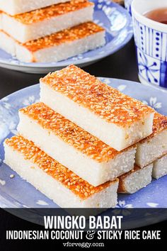 Wingko babat is a traditional Indonesian dessert made from shredded coconut, sticky rice flour, coconut milk, and egg. This oven baked version is so much easier, and I especially love the toasted sesame seeds crust. #indonesianfood #indonesiandessert #glutenfree #coconut #stickyrice #coconutmilk #jajananpasar #indonesianrecipe