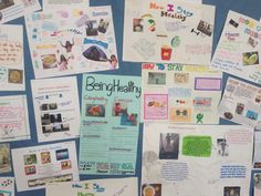 YR 8 students promoting healthy eating and healthy lifestyles with fantastic posters in the sports hall! Great homework! #learningopportunities