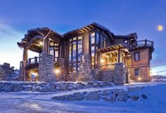 Resort West Ski Dream Home : grand luxe aux pieds des pistes Chalet House, Ski Chalet, Deer Valley Resort, Valley Park, Dream Mansion, Park City Utah, Cabin In The Woods, Expensive Houses, Mountain Homes