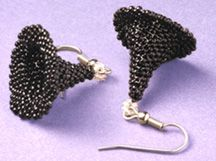 3-D Witches Hat Earrings Beading Pattern by Ruth Kiel at Bead-Patterns.com