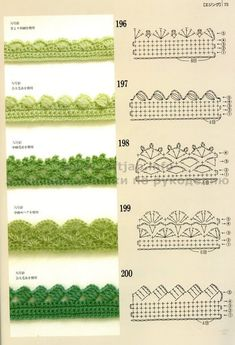 Crochet Edgings with pattern charts. Loads of crochet Motifs, flowers & beautifu… Crochet Edgings with pattern charts. Loads of crochet Motifs, flowers & beautiful Edging patterns at site ! Crochet Boarders, Crochet Edging Patterns, Crochet Lace Edging, Crochet Motifs, Crochet Diagram, Crochet Chart, Crochet Trim, Crochet Designs, Easy Crochet