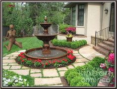 Patio water fountain small garden fountains outdoor wall for . Patio Water Fountain, Water Fountain Design, Garden Water Fountains, Fountain Garden, Fountain Ideas, Wall Fountains, Garden Ponds, Koi Ponds, Landscaping With Fountains