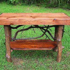 knotty pine log coffee table   Log Furniture   Pinterest ...
