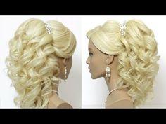 Вечерняя прическа: Роза. Цветок из волос. Hair made rose - YouTube
