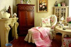 Peach Blossom Hill --- miniature vignettes/dollhouses.