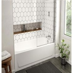 Bootz Industries Honolulu in. Left Drain Rectangular Alcove Soaking Bathtub in – The Home Depot Bootz Industries Honolulu in. Left Drain Rectangular Alcove Soaking Bathtub in – The Home Depot Source by perkinskhalilah Soaking Bathtubs, Bathroom Trends, Bathroom Flooring, Bathroom Cabinets, Bathtub Tile, Bathroom Mirrors, Small Bathroom Bathtub, Dyi Bathroom, Small Bathroom Ideas