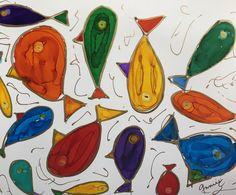 """Something is Fishy"" Lovitude Soul Painting by Annie Pryor"