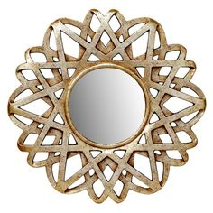 Wall mirror with a silver and gold-finished openwork frame. Product: Wall mirrorConstruction Material: MDF, polyureth...
