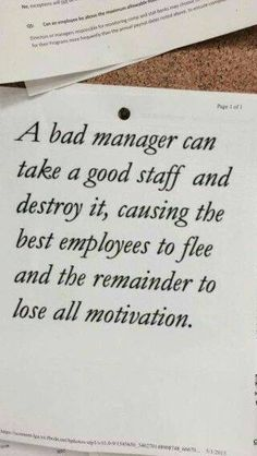 Work Quotes: QUOTATION - Image : Quotes Of the day - Description I've seen this. Sadly Sharing is Caring - Don't forget to share this quote Quotable Quotes, Motivational Quotes, Funny Quotes, Inspirational Quotes, The Words, Great Quotes, Quotes To Live By, Change Quotes Job, Bad Managers