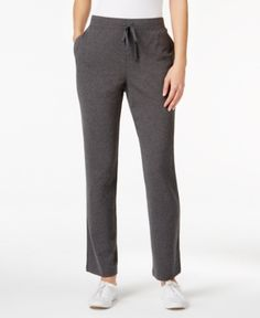 Karen Scott Plus Size High-Rise Knit Pants, Only at Macy's - Gray 2X